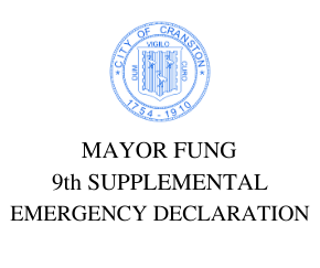 MAYOR FUNG  9th SUPPLEMENTAL EMERGENCY DECLARATION TEMPORARILY ALLOWING EXPANDED OUTSIDE DINING AT RESTAURANTS
