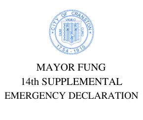 14th SUPPLEMENTAL EMERGENCY ORDER ENABLING TRAFFIC SAFETY PRECAUTIONS FOR STUDENTS