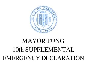 MAYOR FUNG  10th SUPPLEMENTAL EMERGENCY DECLARATION ALLOWING INDOOR EXPANDED OUTDOOR DINING AT RESTAURANTS