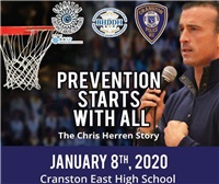 Chris Herren ~ Prevention Starts with All 1/8 at 6 PM