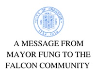 A MESSAGE FROM MAYOR FUNG TO THE FALCON COMMUNITY