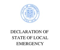 DECLARATION OF  STATE OF LOCAL EMERGENCY