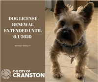 DOG LICENSE RENEWAL EXTENDED UNTIL 6/1/2020